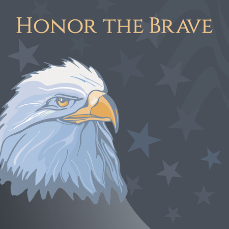 honour: Memorial Day illustration with the lettering honor the brave Stock Photo