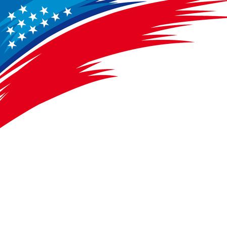 Una ilustración abstracta de barras y estrellas para el fondo patriótico de Estados Unidos Foto de archivo