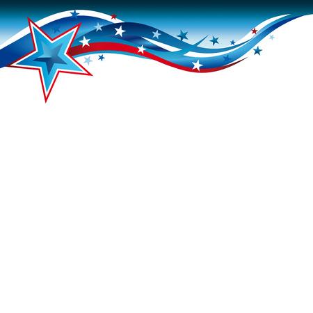 アメリカ合衆国愛国的な背景に星条旗の抽象的なイラスト