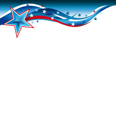 An abstract illustration of stars and stripes for the United States Patriotic background Stock Photo