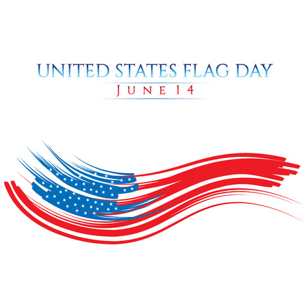An abstract illustration with United States flag colors on Flag Day Stock Photo
