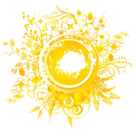 solstice: A circular geometric design for summer solstice day in June on a white background