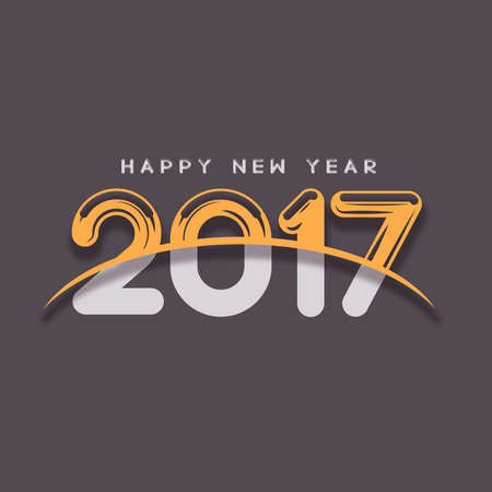 color of year: Happy New Year numerals on a slate color background