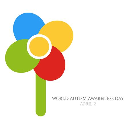 An abstract illustration of a flower for World Autism Awareness day