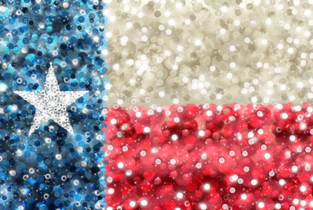 red white and blue: Texas state flag in bedazzled style