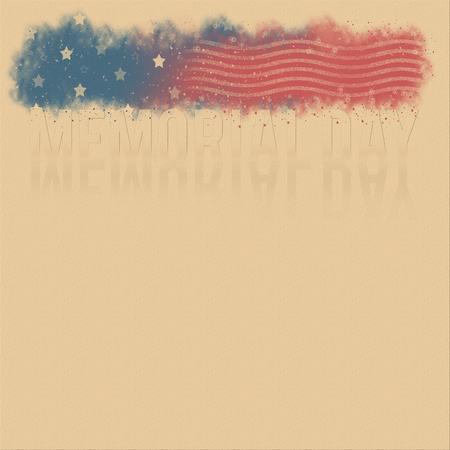scratches: Retro poster background for Memorial Day with stars and stripes