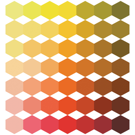 Hexagon abstract background in warm color tones