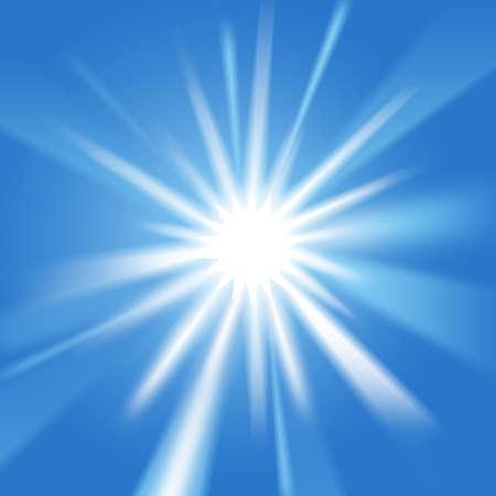sunlight sky: Morning sunlight set against a bright blue sky