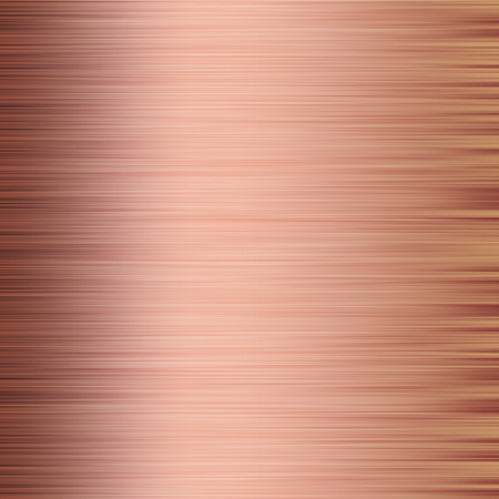 An abstract illustration of metal brushed texture background in rose gold Stock Photo