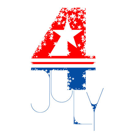 Abstract 4th of July typographic design