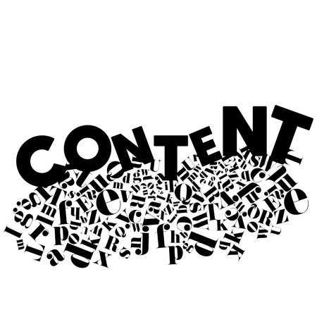 An abstract illustration on Content on an isolated white background