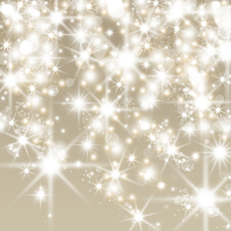 Abstract holiday background with clusters of bright huge white twinkling stars Stockfoto