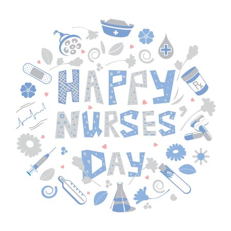 Happy Nurses Day celebration from May 6 to 12 in honor of Florence Nightingale, the founder of Modern Nursing Ilustração