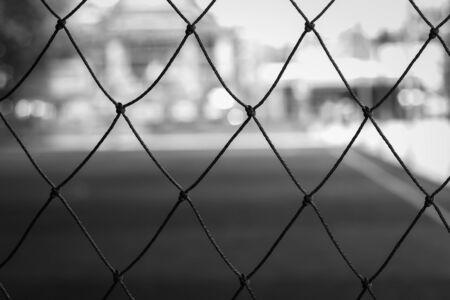 futsal: Net of futsal stadium Stock Photo