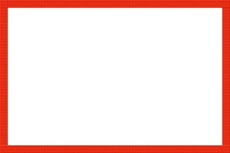 bordure de page: cadre rouge Banque d'images