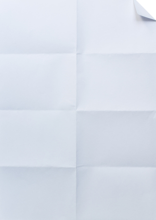 white textured paper: white textured paper folded in eight