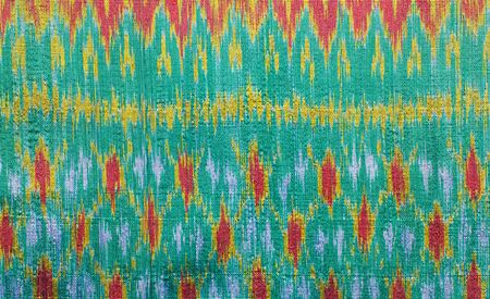 silk fabric: thai silk fabric pattern background Stock Photo