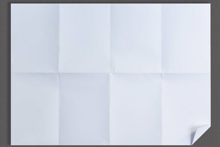 isolated on gray: Empty white Crumpled paper on isolated gray background Stock Photo