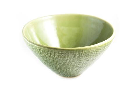 ware: Green bowl, isolated on white
