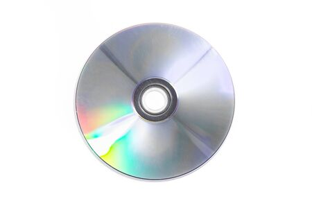 Blank CD glare on the white background
