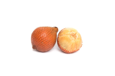 salak: Salak fruit, Salacca zalacca isolated on the white background