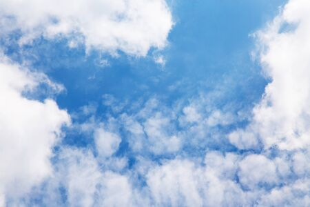 ou: blue sky background with tiny clouds Stock Photo