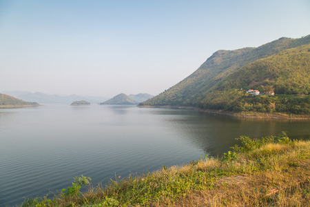 View of the kaengkrachan dam in petchburi, Thailand.