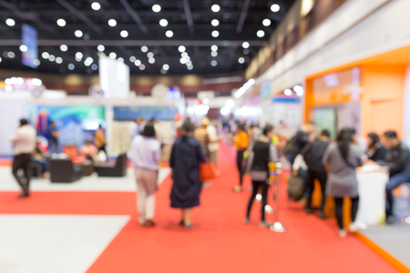 Abstract blurred event exhibition with people background, business convention show concept. Stock Photo - 119388071