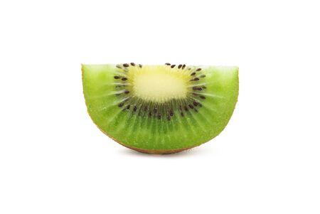 Slice ripe kiwi fruit isolated on white background Zdjęcie Seryjne