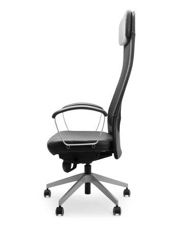 Black office chair isolated on white background Zdjęcie Seryjne - 150279045