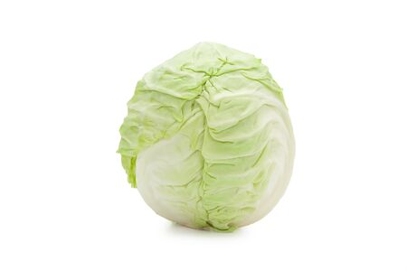 Whole green cabbage isolated on white background Zdjęcie Seryjne - 150279050
