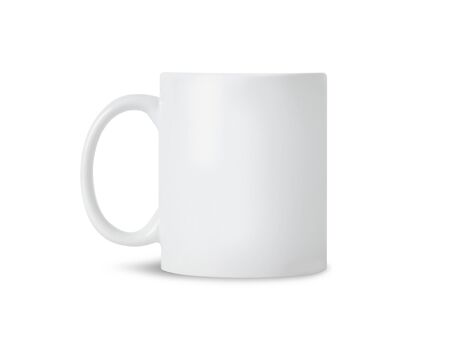 White mug cup mockup for your design isolated on white background Zdjęcie Seryjne