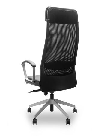 Black office chair isolated on white background Zdjęcie Seryjne - 150279137