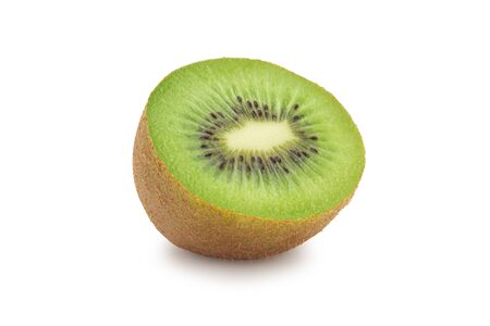 Half ripe kiwi fruit isolated on white background 版權商用圖片 - 150279213