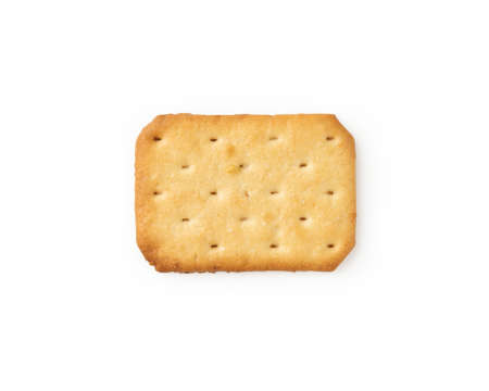 Cracker cookies isolated on white background with clipping path.
