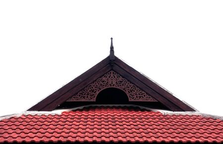 Red tiled roof for background photo