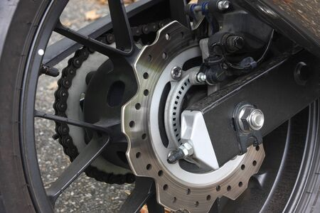 brakes: Disc brakes of a motorcycle
