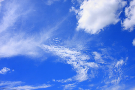 cumuli: clouds in the blue sky background