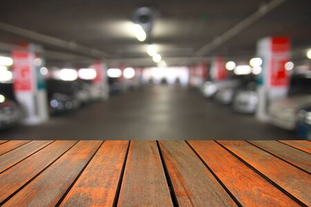crowded space: Abstract blur of the car parking Stock Photo