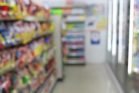 blurred image  minimart convenience store