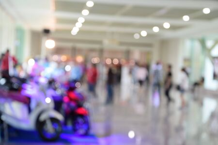 trade show: blurred image trade show and one stop shopping expo
