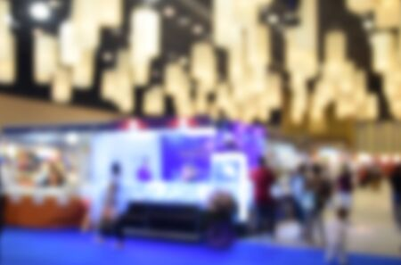 attendee: blurred image trade show and one stop shopping expo