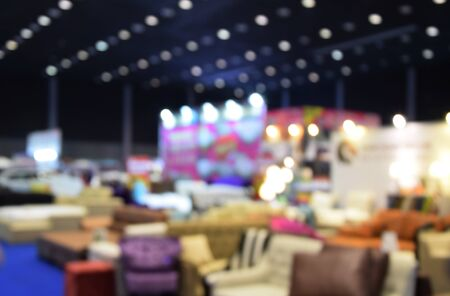 messe: blurred image trade show and one stop shopping expo