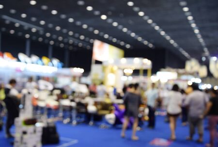 expo: blurred image trade show and one stop shopping expo