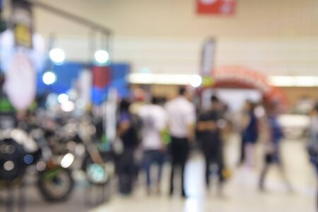 show room: blurred image of motor show,show room,motor expo for background