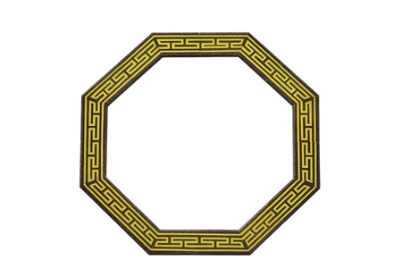 octagon: traditional chinese octagon window  on white background