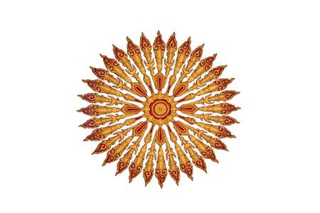 starlike: Design of  star-like pattern of thai traditonal art on white background