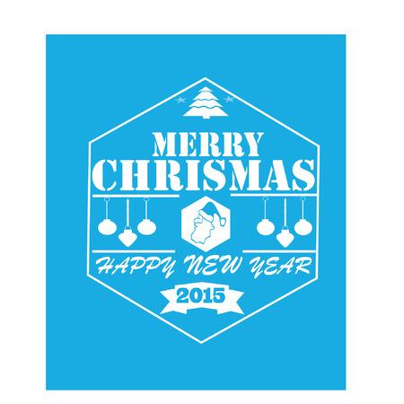 merry chrismas: Merry Chrismas Blue Squared Card