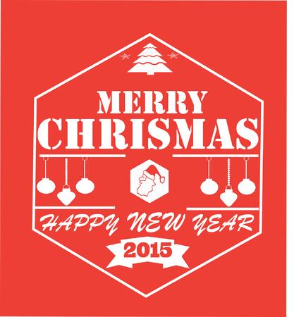 merry chrismas: Merry Chrismas Red Squared Card