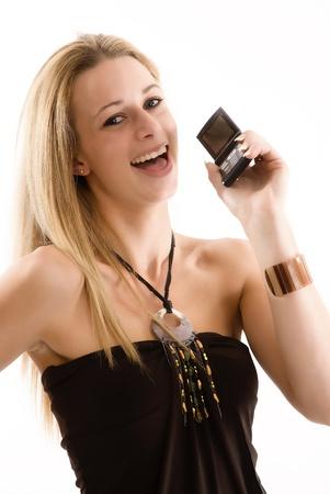 Young woman on mobile phone Stock Photo - 9310762